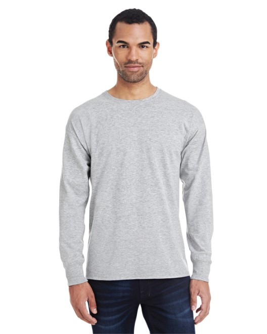 Picture of Hanes 42L0 Men's 4.5 oz., 60/40 Ringspun Cotton/Polyester X-Temp Long-Sleeve T-Shirt