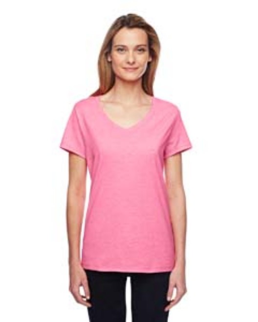 Picture of Hanes 42V0 Womens 4.5 oz. X-Temp Performance V-Neck