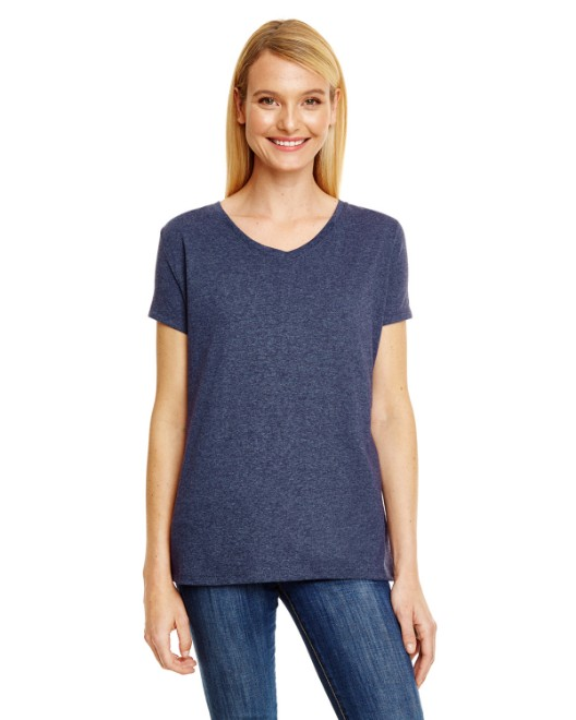 Picture of Hanes 42VT Womens X-Temp Triblend V-Neck T-Shirt