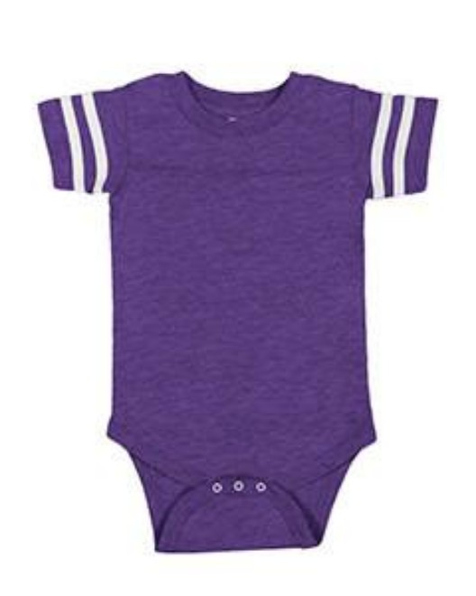 Picture of Rabbit Skins 4437 Infant Football Fine Jersey Bodysuit