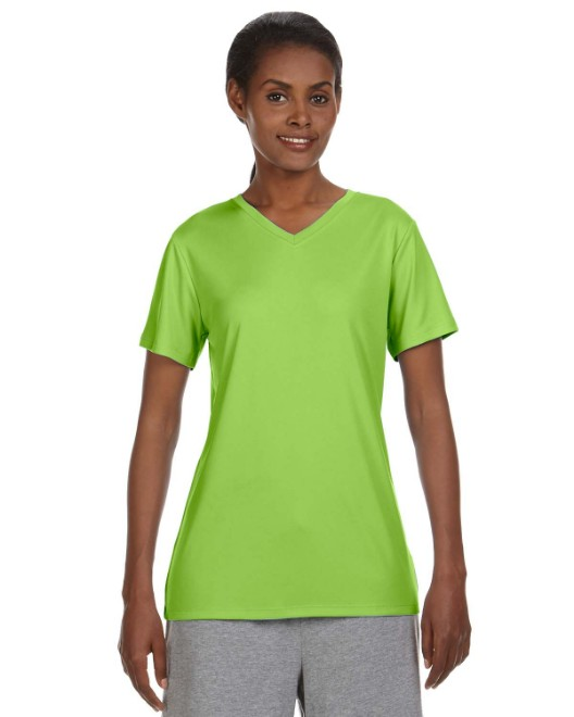 Picture of Hanes 483V Ladies' Cool DRI with FreshIQ V-Neck Performance T-Shirt