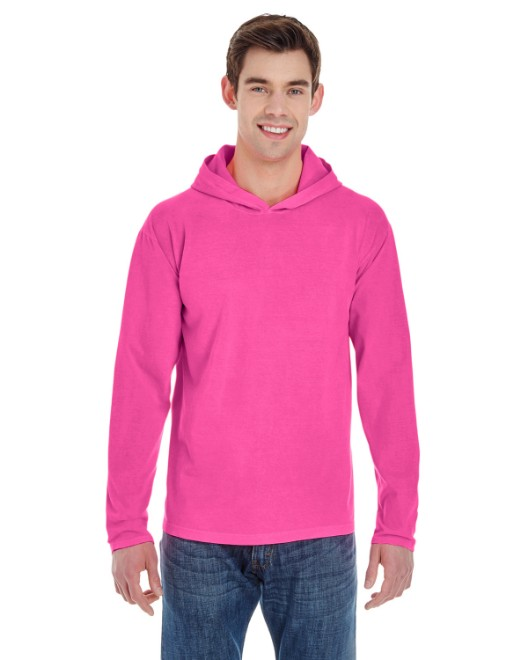 Picture of Comfort Colors 4900 Adult Heavyweight RS Long-Sleeve Hooded T-Shirt