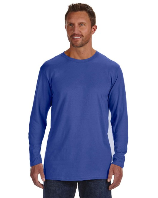 Picture of Hanes 498L Adult 4.5 oz., 100% Ringspun Cotton nano-T Long-Sleeve T-Shirt