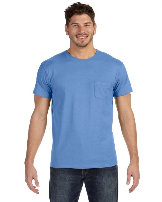 Picture of Hanes 498P Adult 4.5 oz., 100% Ringspun Cotton nano-T T-Shirt with Pocket