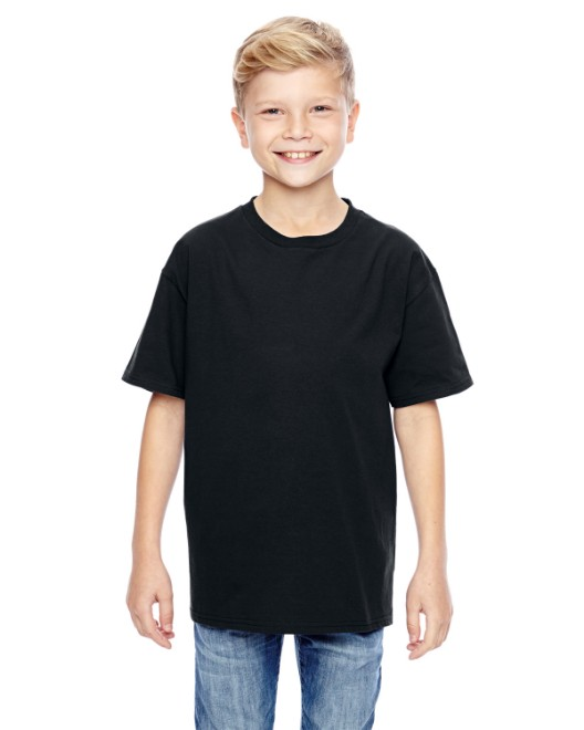 Picture of Hanes 498Y Youth 4.5 oz., 100% Ringspun Cotton nano-T T-Shirt
