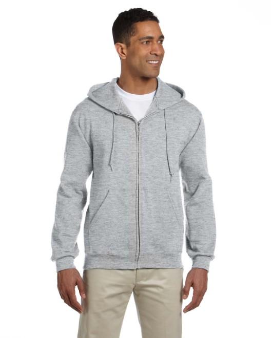 Picture of Jerzees 4999 Adult 9.5 oz., Super Sweats NuBlend Fleece Full-Zip Hood