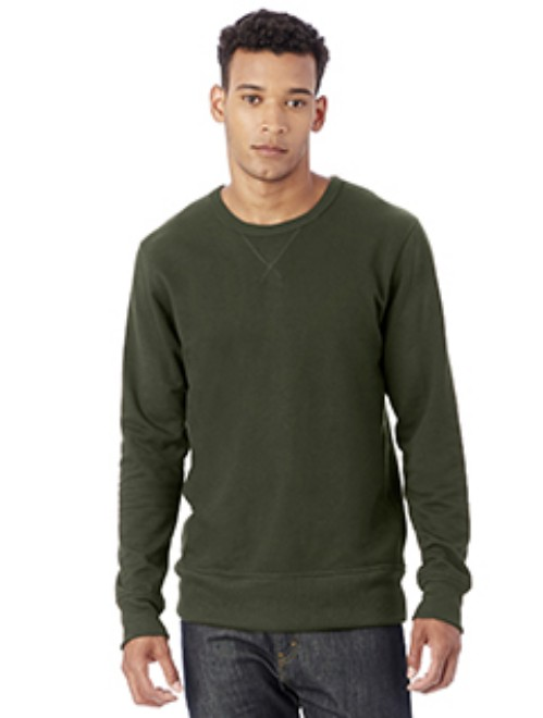 Picture of Alternative 5065BT Men's Reversible B-Side Vintage French Terry Crewneck