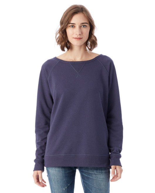 Picture of Alternative 5068BT Womens Reversible Scrimmage Vintage French Terry Pullover