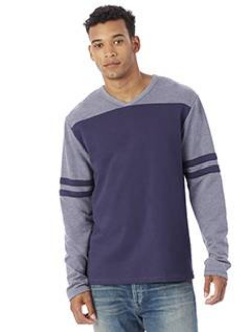 Picture of Alternative 5077BT Men's French Terry Trainer L/S Pullover