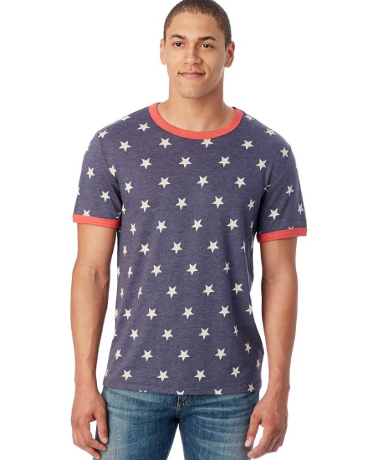 Picture of Alternative 5103EA Men's Eco-Jersey Ringer T-Shirt