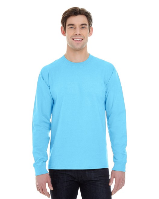 Picture of Hanes 5186 Adult 6.1 oz. Long-Sleeve Beefy-T