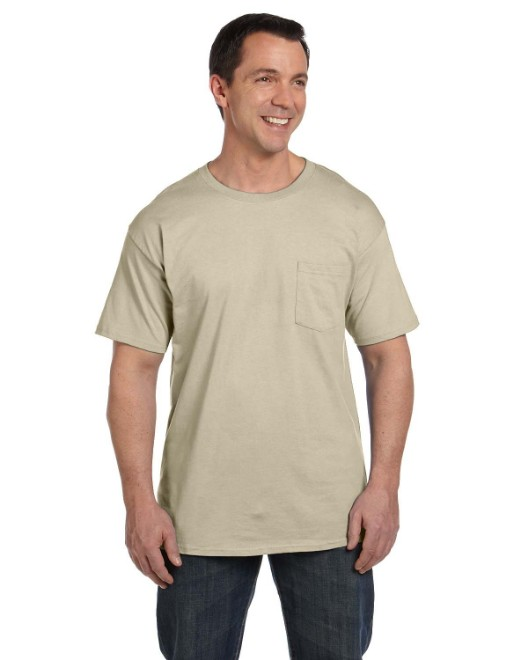 Picture of Hanes 5190P Adult 6.1 oz. Beefy-T with Pocket