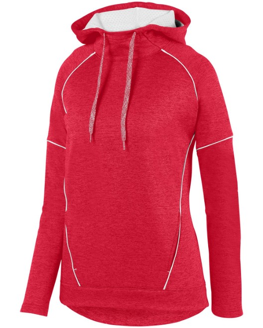 Picture of Augusta Sportswear 5556 Womens Zoe Tonal Heather Hoodie