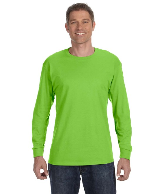 Picture of Hanes 5586 Unisex 6.1 oz. Tagless Long-Sleeve T-Shirt