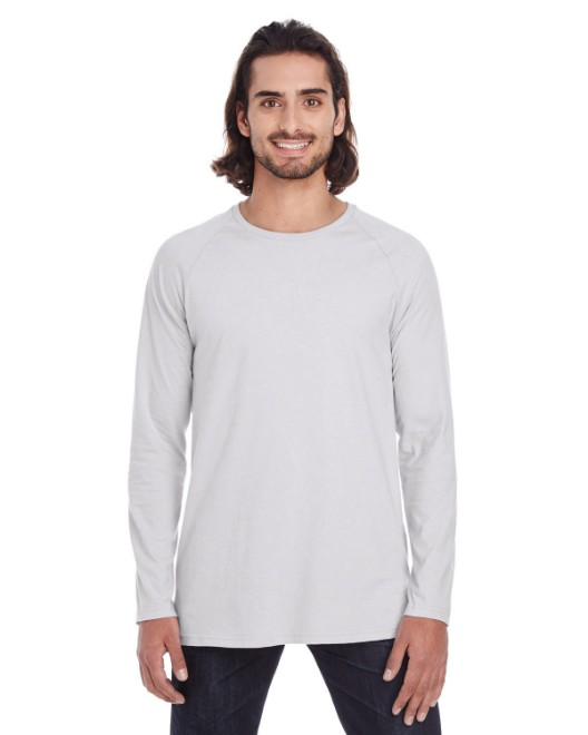 Picture of Anvil 5628 Adult Lightweight Long & Lean Raglan Long-Sleeve T-Shirt