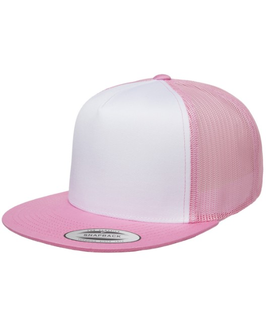 Picture of Yupoong 6006W Adult Classic Trucker with White Front Panel Cap