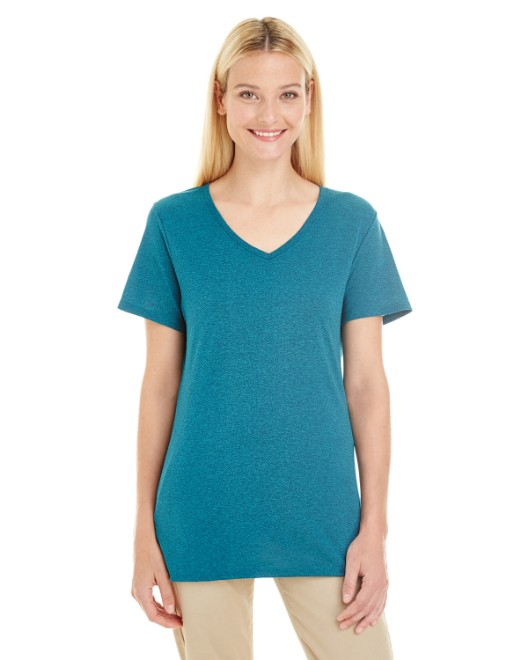 Picture of Jerzees 601WVR Womens 4.5 oz. TRI-BLEND V-Neck T-Shirt