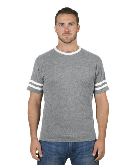 Picture of Jerzees 602MR Adult 4.5 oz. TRI-BLEND Varsity Ringer T-Shirt