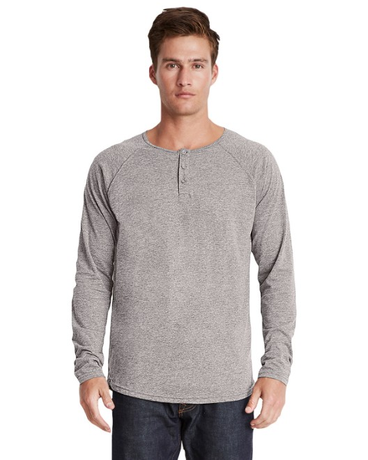 Picture of Next Level 6072 Men's Triblend Long-Sleeve Henley