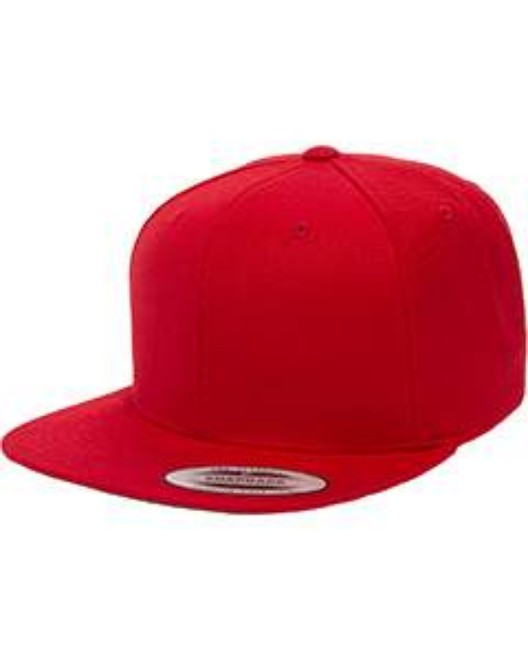 Picture of Yupoong 6089 Adult 6-Panel Structured Flat Visor Classic Snapback