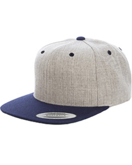 Picture of Yupoong 6089MT Adult 6-Panel Structured Flat Visor Classic Two-Tone Snapback