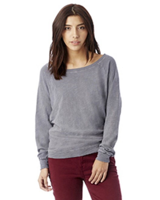 Picture of Alternative 61061J Womens Wash Slub Slouchy Pullover