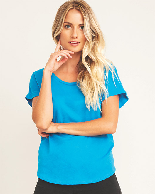 Picture of Next Level 6360 Womens Dolman with Rolled Sleeves
