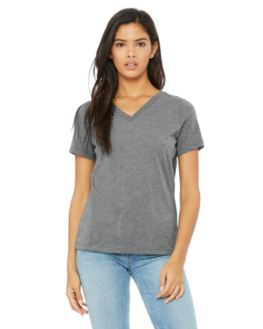 Picture of Bella + Canvas 6405 Ladies' Relaxed Jersey Short-Sleeve V-Neck T-Shirt