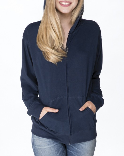 Picture of Next Level 6491 Adult Sueded Full-Zip Hoody