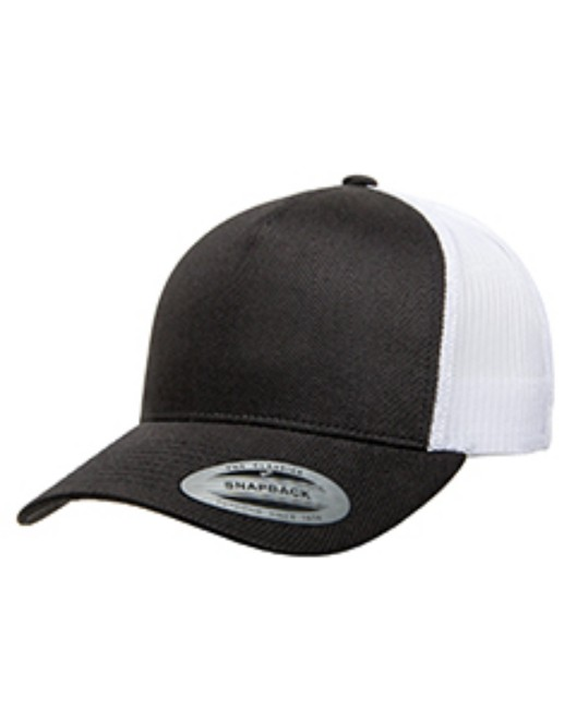 Picture of Yupoong 6506 Adult 5-Panel Retro Trucker Cap