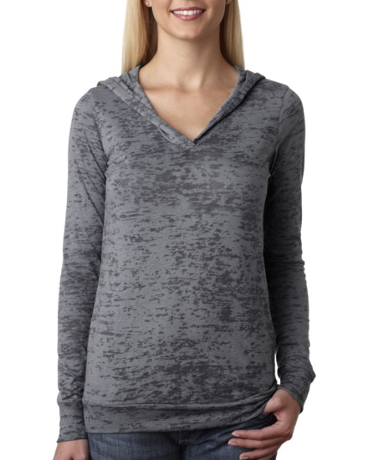Picture of Next Level 6521 Womens Burnout Hoody
