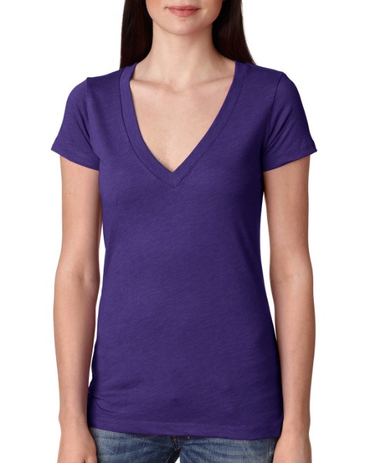 Picture of Next Level 6740 Womens Triblend Deep V