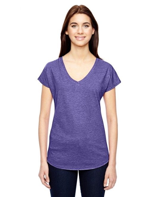 Picture of Anvil 6750VL Womens Triblend V-Neck T-Shirt