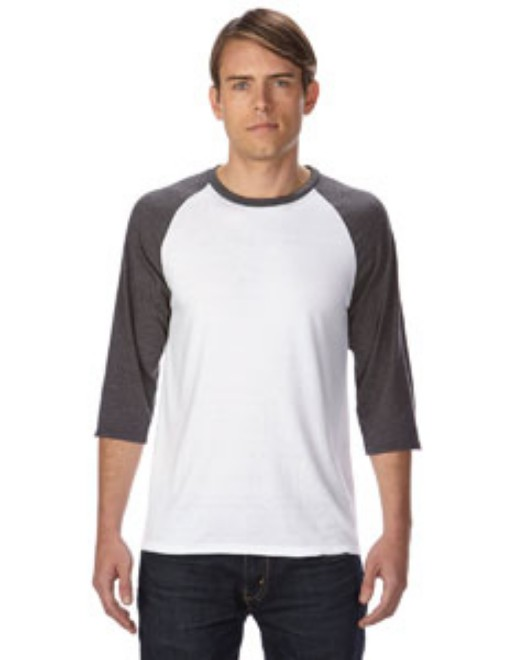Picture of Anvil 6755 Adult Triblend 3/4-Sleeve Raglan T-Shirt