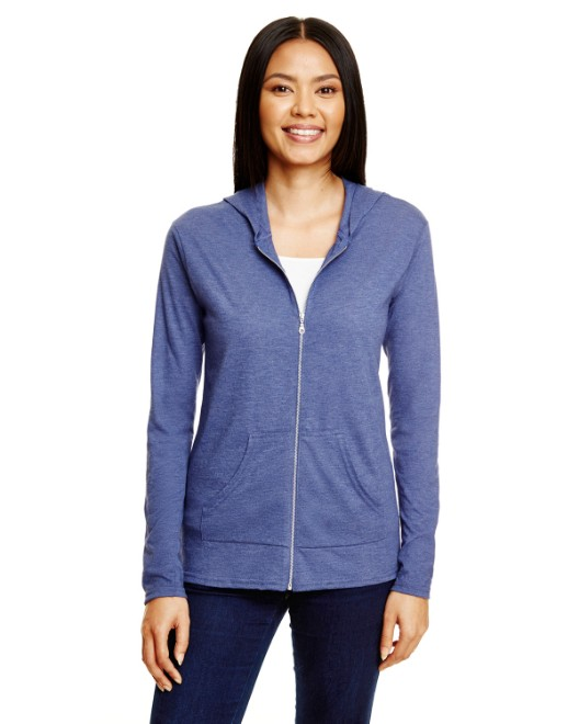 Picture of Anvil 6759L Womens Triblend Full-Zip Jacket