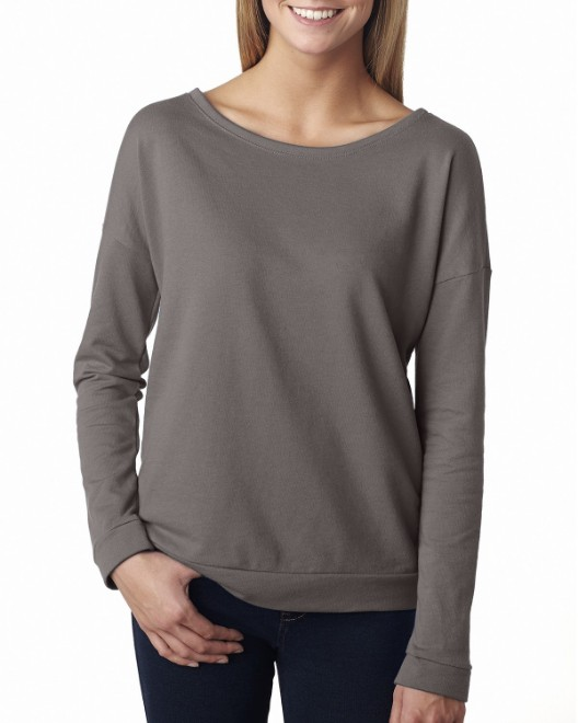 Picture of Next Level 6931 Womens French Terry Long-Sleeve Scoop