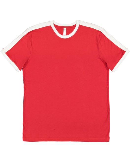 Picture of LAT 6932 Men's Soccer Ringer Fine Jersey T-Shirt