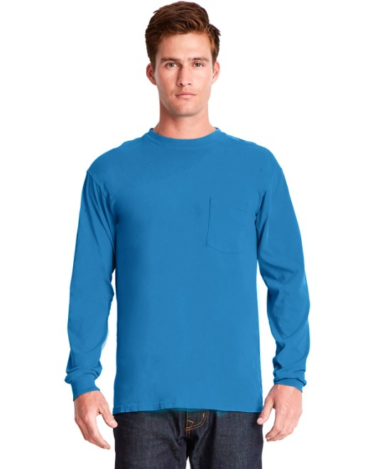 Picture of Next Level 7451 Adult Inspired Dye Long-Sleeve Crew with Pocket