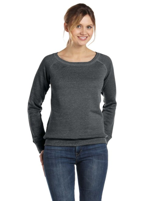 Picture of Bella + Canvas 7501 Womens Sponge Fleece Wide Neck Sweatshirt