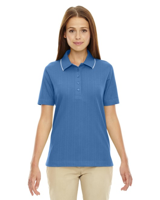 Picture of Ash City - Extreme 75045 Womens Edry Needle-Out Interlock Polo