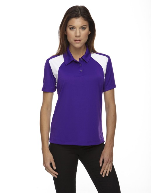 Picture of Ash City - Extreme 75066 Womens Eperformance Colorblock Textured Polo