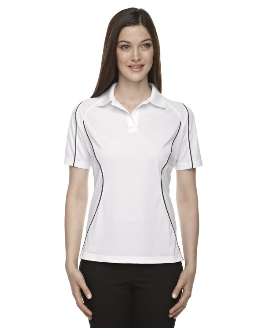 Picture of Ash City - Extreme 75107 Womens Eperformance Velocity Snag Protection Colorblock Polo with Piping