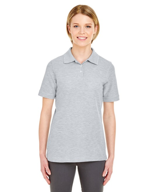 Picture of UltraClub 7510L Womens Platinum Honeycomb Pique Polo