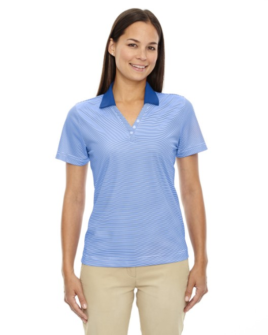 Picture of Ash City - Extreme 75115 Womens Eperformance Launch Snag Protection Striped Polo