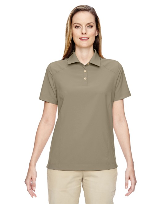 Picture of Ash City - North End 75120 Womens Excursion Crosscheck Woven Polo