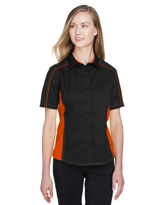 Picture of Ash City - North End 77042 Womens Fuse Colorblock Twill Shirt
