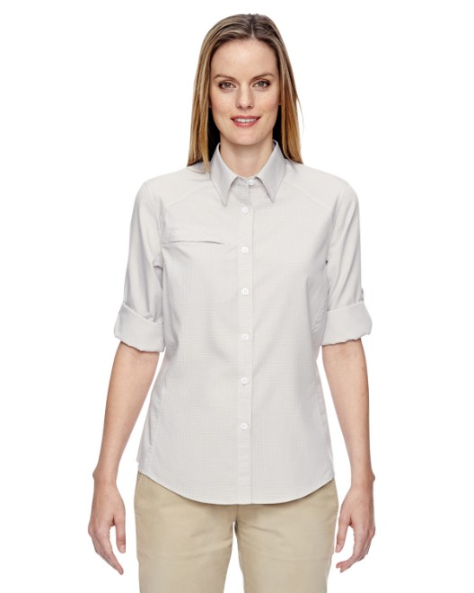 Picture of Ash City - North End 77046 Womens Excursion F.B.C. Textured Performance Shirt