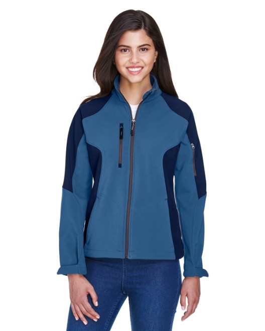 Picture of Ash City - North End 78077 Womens Compass Colorblock Three-Layer Fleece Bonded Soft Shell Jacket