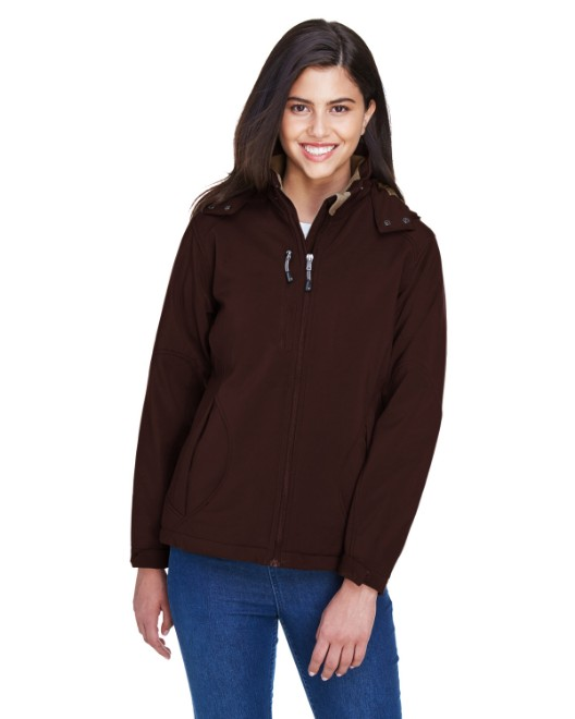 Picture of Ash City - North End 78080 Womens Glacier Insulated Three-Layer Fleece Bonded Soft Shell Jacket with Detachable Hood