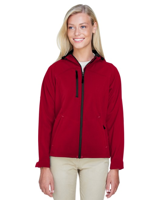 Picture of Ash City - North End 78166 Womens Prospect Two-Layer Fleece Bonded Soft Shell Hooded Jacket